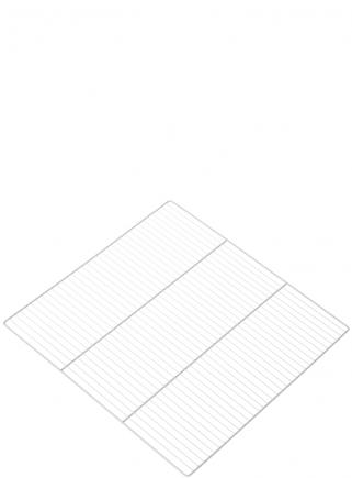 White grid for breeding cage 90 - 4 cm