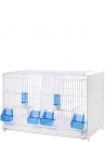 Painted breeding cage 58 cm with drawer and closed sides - 1