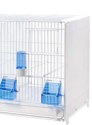 Painted breeding cage cm.58 with drawer and closed sides - 2