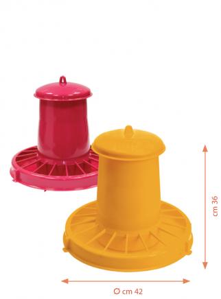 Mangiatoia tramoggia plastica kg.15 polli - 3