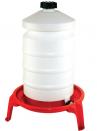 Abbeveratoio a sifone in plastica lt.20 + sostegno - 1
