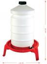 Abbeveratoio a sifone in plastica lt.20 + sostegno - 2