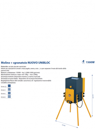 Mill + NEW UNI-BLOC Sheller