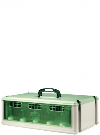 5 places corrugated transport box with lid - 1