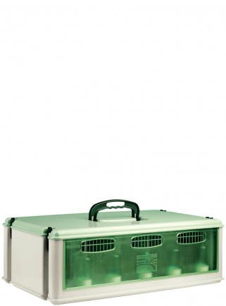 5-place corrugated transport box with lid
