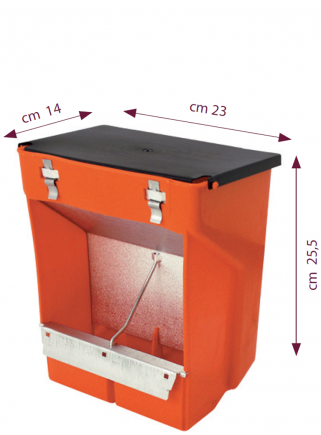 Feeder 2 compartments + lid