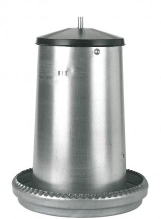 Mangiatoia tramoggia in lamiera kg.5 c/coperchio - 1