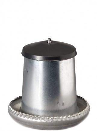 Mangiatoia tramoggia in lamiera kg.5 c/coperchio - 2