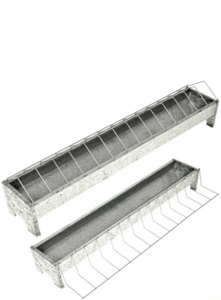 Feeder in sheet metal with bars