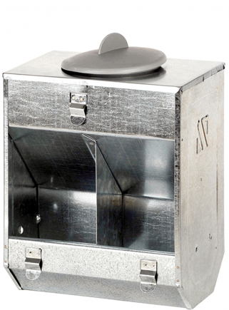 Feeder 2 compartments + plastic lid - 1