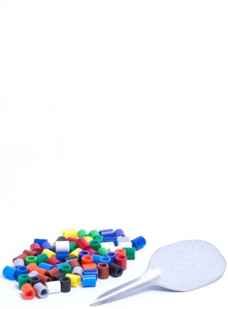 Anellini in plastica muticolor mm.3 - 1