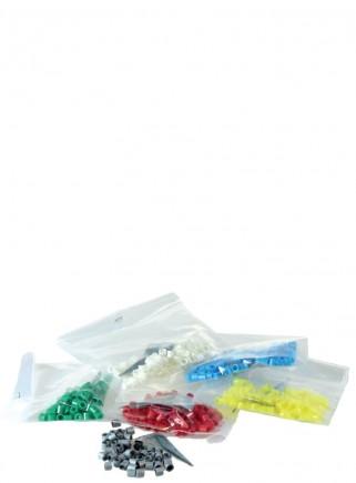 Anellini in plastica muticolor mm.3