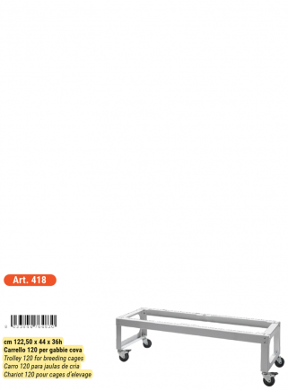 Trolley for breeding cage 60 -120 - 5
