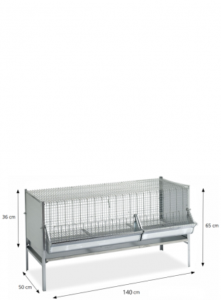 Gabbia polli/pulcini cm.140x50 - 2