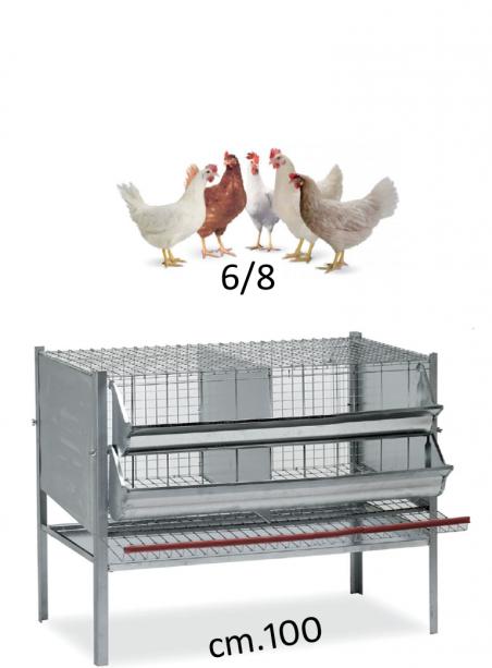Gabbia galline cm.100 - 1