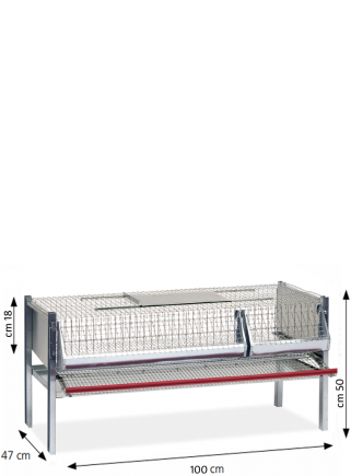 Cage for laying quails 100 cm