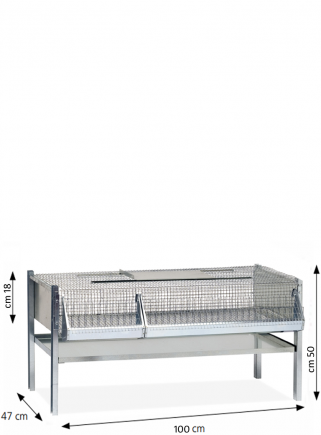 Quail cage for fattening 100 cm
