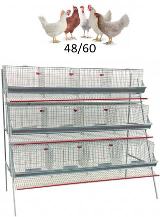 Gabbia galline cm.210 ad 3 piani - 1