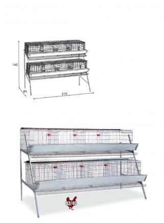 Gabbia galline cm.210 ad 2 piani - 2