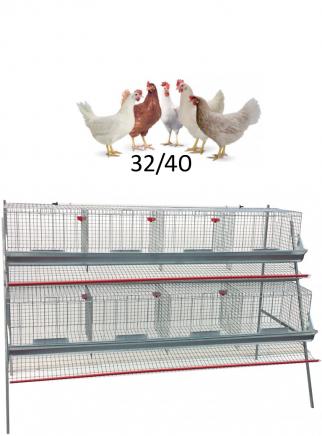 Gabbia galline cm.210 ad 2 piani - 1