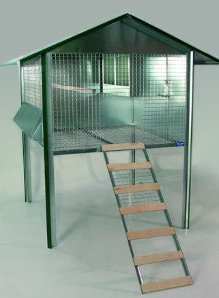Outdoor chicken coop for laying hens