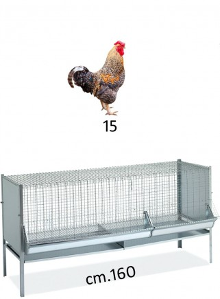 P6 cage for chickens and capons 160 - 1 cm
