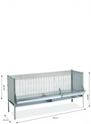 Cage P6 fattening chickens 160 cm