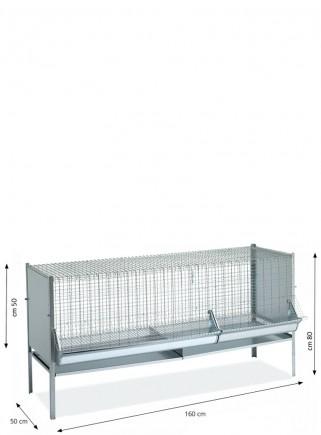 Gabbia capponi/polli/pulcini cm.160x60