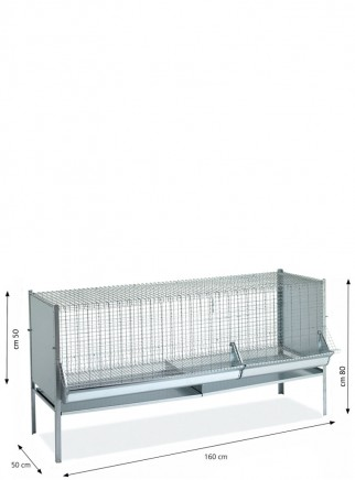 Gabbia capponi/polli/pulcini cm.160x60 - 2