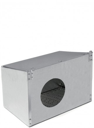 Nest with hole for outside cage - 1