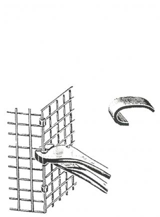 Pinza per graffette diam.mm.4 - 3