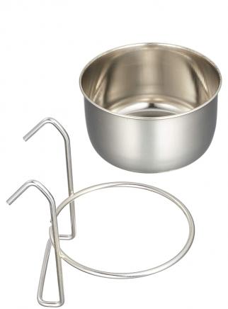 Mangiatoia acciaio con supporto cc..300 - 2