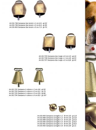 Campana in Ottone n.1 cm.4,8 h. - 3