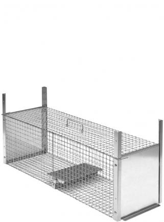 Farmyard animal trap 120 cm two entrances - 1