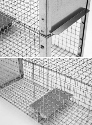 Farmyard animal trap 82 cm. Two entrances