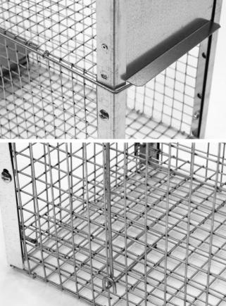 Farmyard animal trap 62 cm one entrance