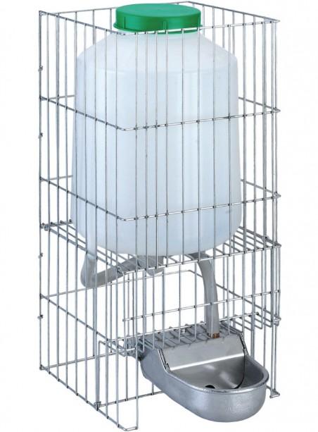 Abbeveratoio a livello costante in alluminio per cani con supporto e serbatoio da lt.8 - 1