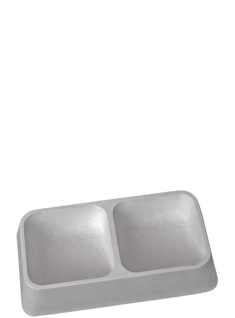Ciotola in cemento doppia antimorso antirosicchio - 1