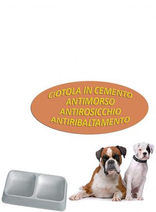 Ciotola in cemento doppia antimorso antirosicchio