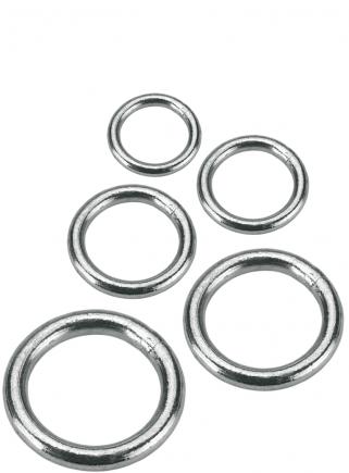 Galvanized ring 4 mm x 20 - 1 mm diameter