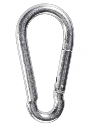 Snap hook with spring safety