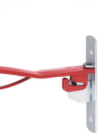 Folding metal saddle holder