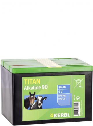 Dry battery TITAN ALKALINE 9V 90 Ah. - 1