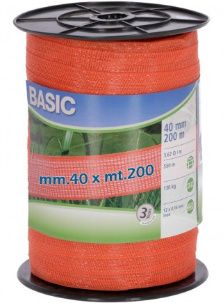 Banda arancione per recinzioni mm.40 x mt.200 - 1