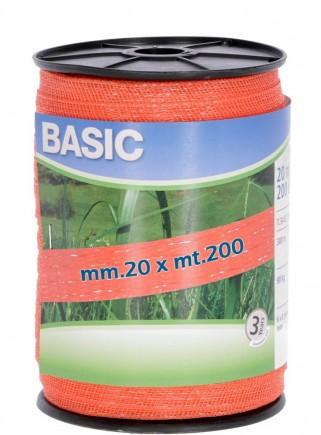 Banda elettropascolo BASIC arancio mm.20 x mt.200 - 1