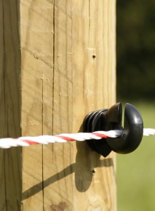 Isolatore filo/corda per palo legno