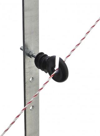 Isolatore ad anello filo/corda per palo ferro