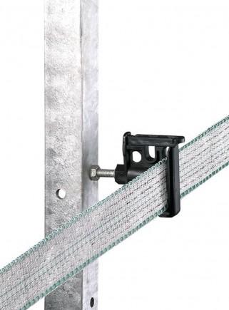 Isolatore banda filo corda a clip per palo ferro