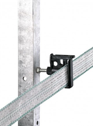 Wire rope band insulator with clip for iron pole
