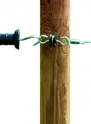 Handle insulator for wooden post